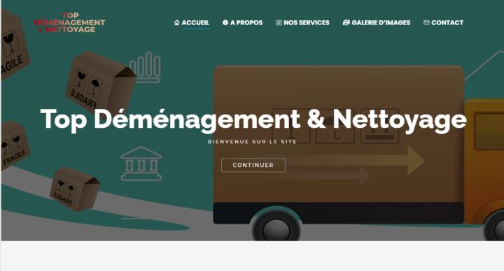 Lancement du site Top Déménagement & Nettoyage