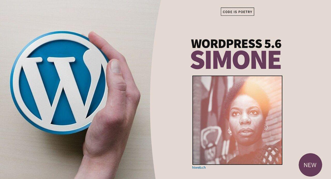 WordPress 5.6 au nom de Nina Simone
